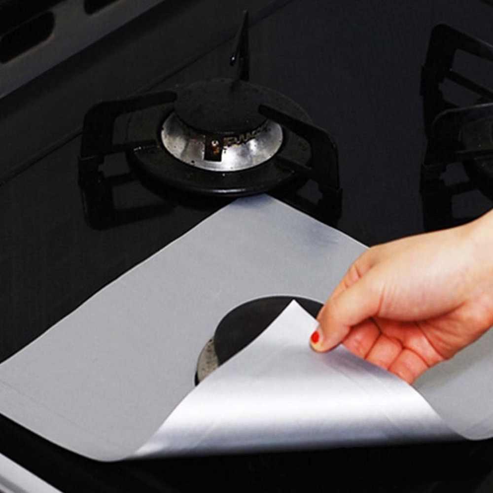 تفلون موقد غاز النفط حامي بطانة غير عصا ورقة قابلة لإعادة الاستخدام موقد حصيرة نظيفة سادة فرن سطح حماية منصات أدوات مطبخ