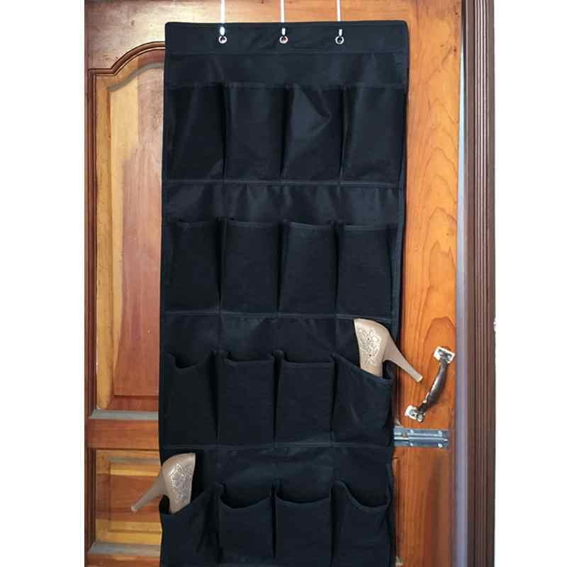 20 Taschen Über die Tür Schuh Organizer Platzsparend Rack Hänge Aufbewahrung #R