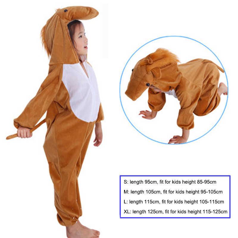 Los niños de los niños de dibujos animados trajes de Animal rendimiento traje niñas niños caballo de los niños día de disfraces de Halloween Navidad y mono