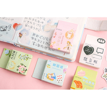 46pcs/box Lovely Japanese Girl Little Time Mini Diary Paper Label Sealing Adhesive Scrapbooking Decorative DIY Stickers