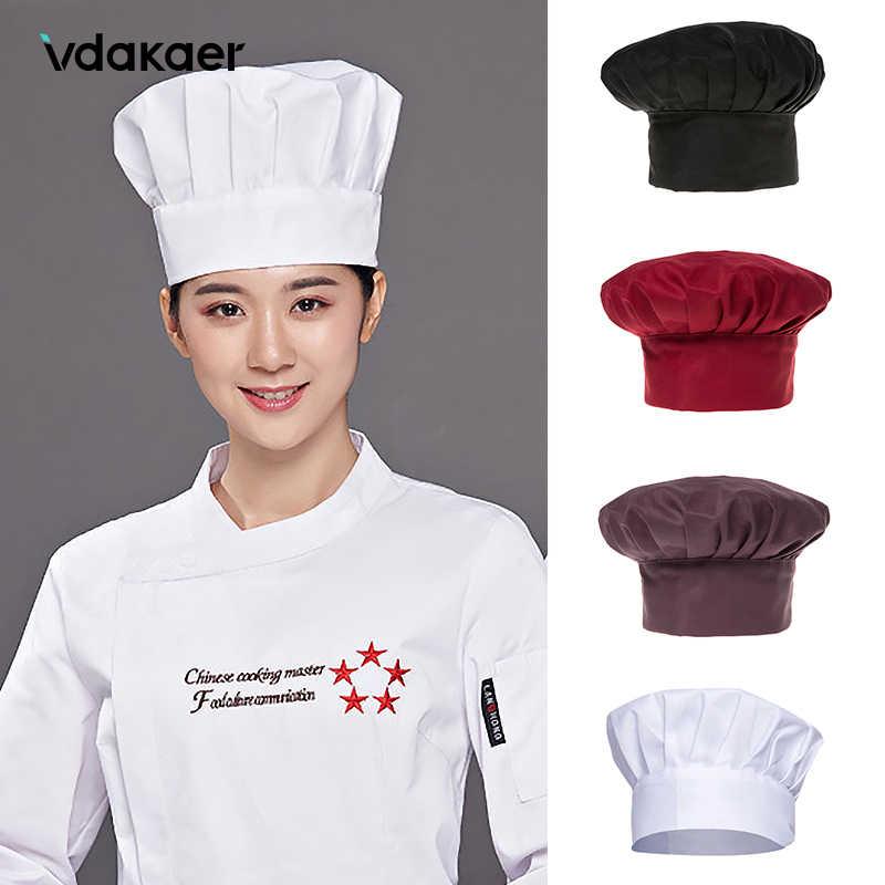 Chef Hat Cooking Adjustable Men Kitchen Baker Elastic Hat Catering Cooking Cap Striped Plain Hats Working Cap 1pc Cooker Hat Accessories Aliexpress