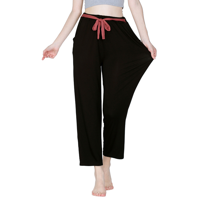 Trousers Sports Pants Casual Female Home Pants Women'S Spring And Autumn Dance High Waist Elastic Length Plus Large Size 6XL