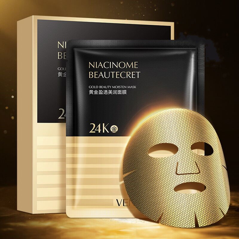 24k Gold Collagen Face Masks Anti-Aging Wrinkle Blackheads Acne Firm Hydrating Whitening Mask Shrink Pores Skin Care Facial Mask