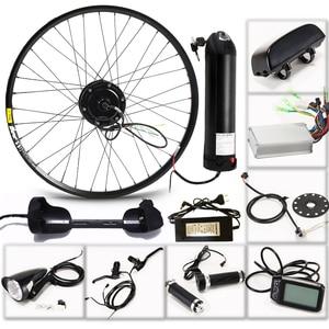 Image 2 - 전기 자전거 키트 모터 휠 36 v 350 w 26 인치 1.95/2.10 전기 자전거 변환 키트 ebike 전자 자전거 산악 도로 속도 자전거
