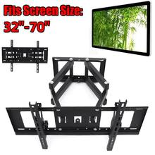 "TV Mount Telescopic Rotating LCD TV Bracket 32-70"" Universal Monitor Wall Mounted LCD LED Plasma Flat Retractable Bracket(China)"