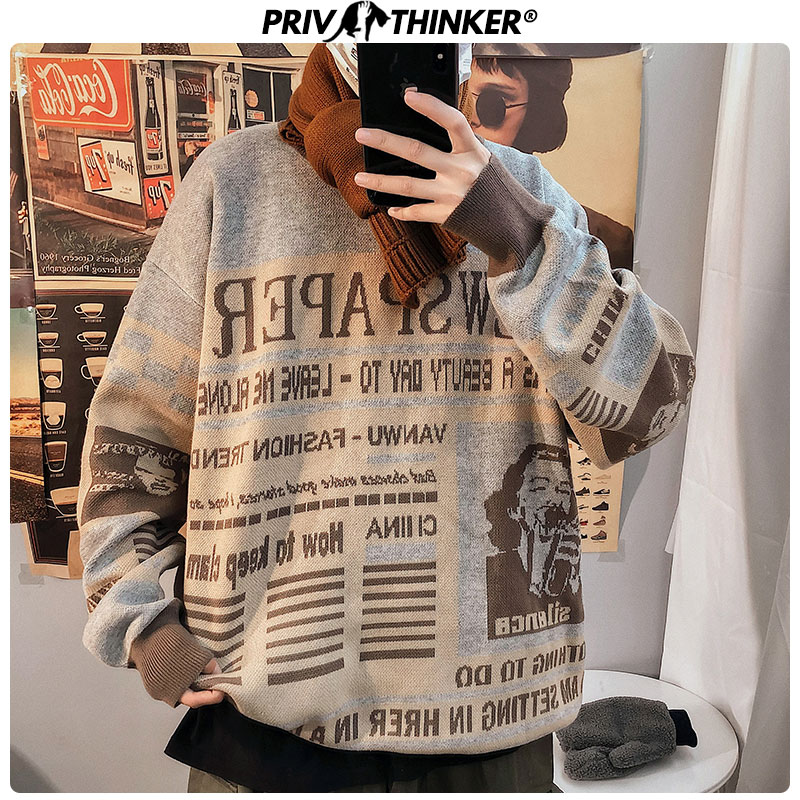 Privathinker Men Thicken Warm Autumn Winter Sweater Male Pullovers Vintage Casual Knitted Korean Sweaters Mens Fashion Tops 2019