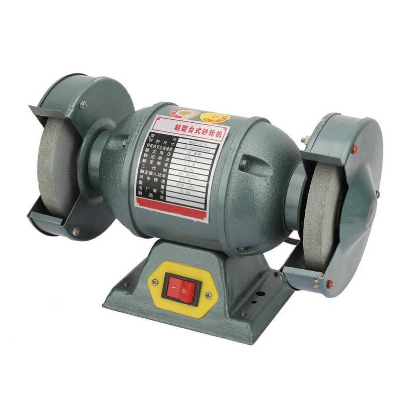 Электрический Настольный шлифовальный станок двойной шлифовальный камень 370 Вт об/мин для нескольких целей