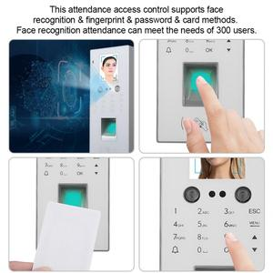 time attendance 2.8in Color Screen Access Control Face&Fingerprint&Password&Card Time Attendance Machine White