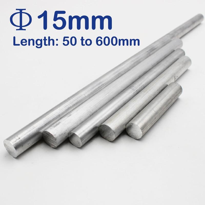 15mm Diameter Aluminum Round Bar/Rod Length 50mm To 600mm