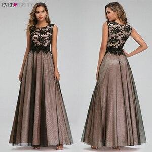 Image 3 - Vestido de festa longo de ever pretty, com apliques em renda real, vestidos longos de baile, elegante a linha jurken