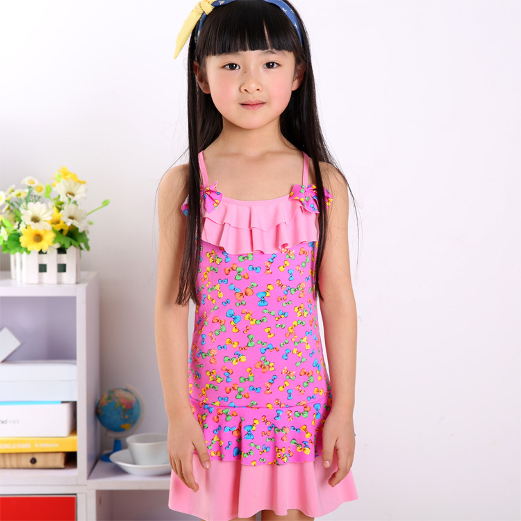 New Style CHILDREN'S Swimwear Girls GIRL'S Swimwear Princess Baby Dress-in Big Kid Triangular Swimming Trunks