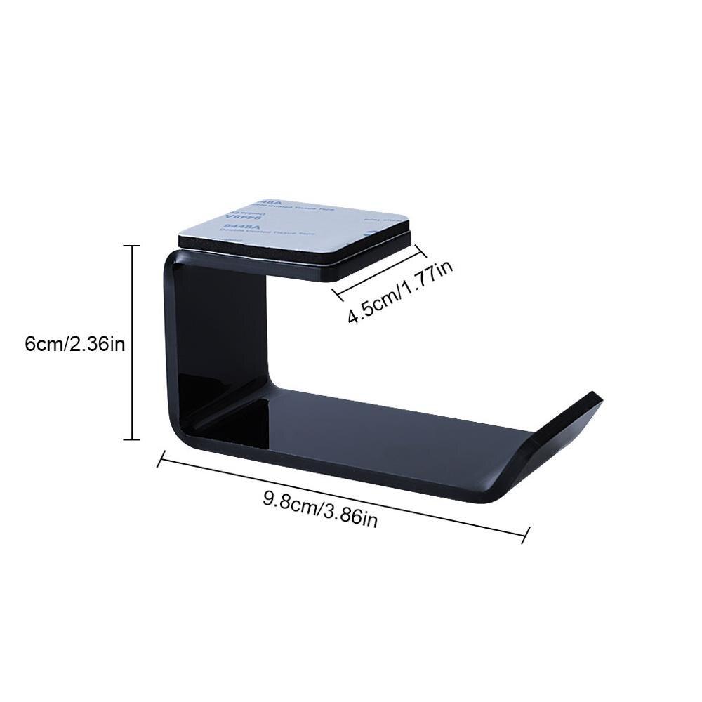 Sticker Acrylic Headphone Bracket Wall Mounted Headset Holder   Hanger Under Desk Hook Earphone Sticky Display Stand 5