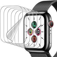Filme protetor de tela para apple watch 6 se 5 4 40mm 44mm claro película protetora completa não vidro para iwatch série 3 2 1 38mm 42mm