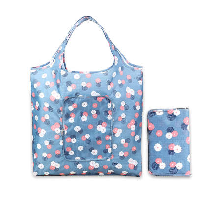 Waterproof Foldable Shopping Tote Carrying Shoulder Eco Reusable Bag Ladies Printing Shopping Bag