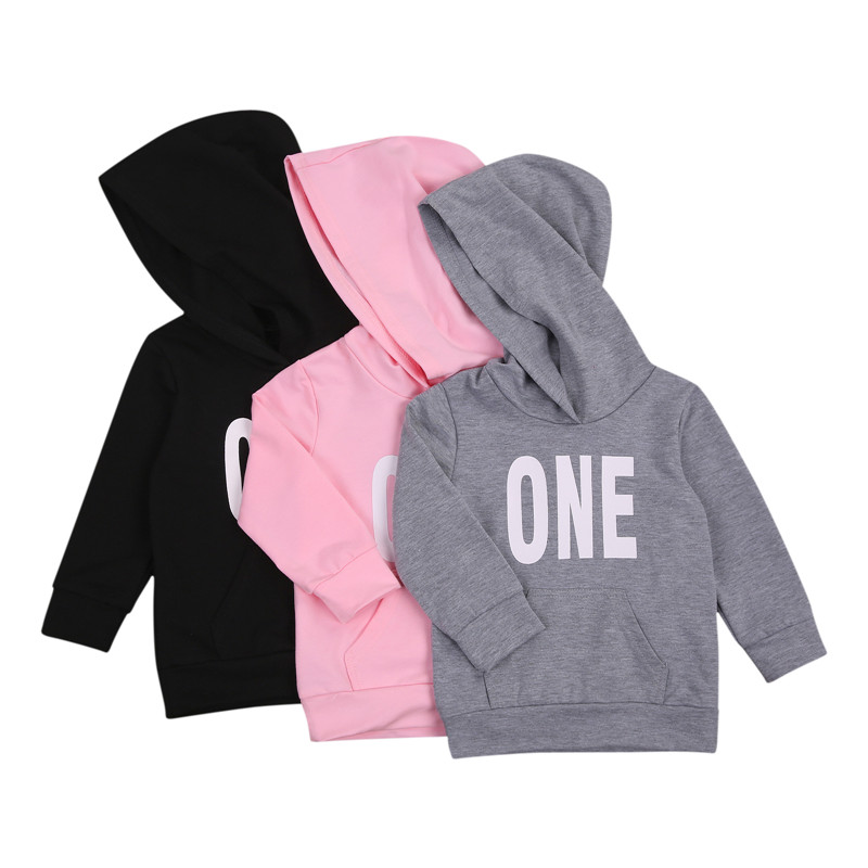 1-7Y Kids Tops Baby Boys Girls Letter Sweatshirts Long Sleeve Round Collar Pullover Tops Casual Infant Baby Letter Sweatshirt