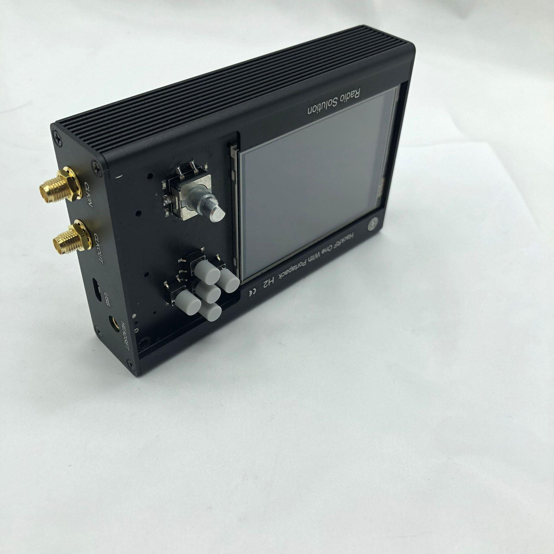 Metal Case  Black Aluminum Enclosure Cover Case Shell For PORTAPACK H2 + HACKRF ONE SDR Radio  The Price    Only  Case