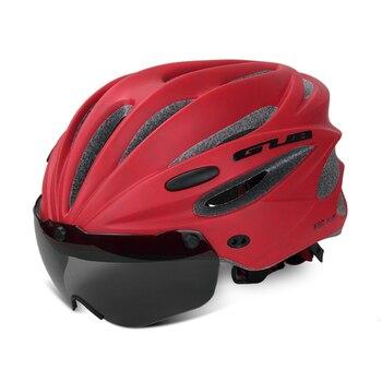 GUB K80 Cycling Helmet with Visor Magnetic Goggles Integrally-molded 58-62cm for Men Women MTB Road Bicycle  Bike Helmet 10