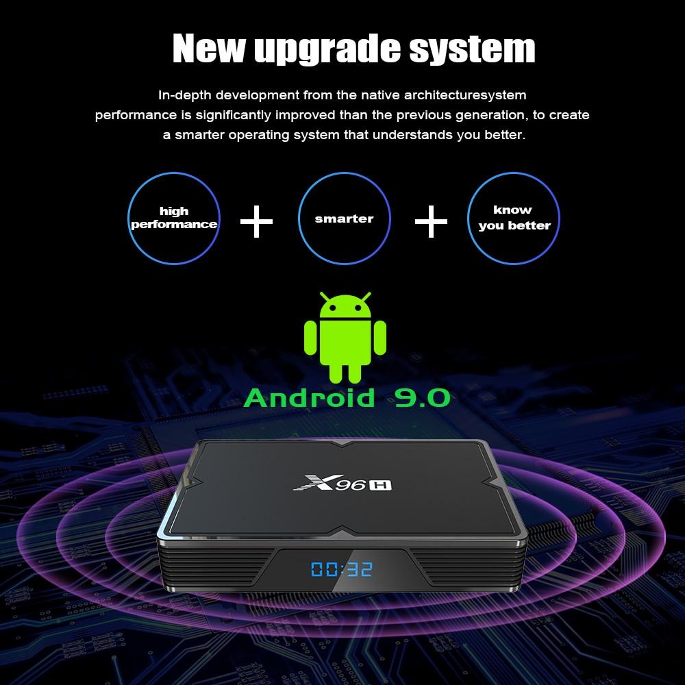 Image 4 - X96H Android 9.0 TV Box 4GB 64GB H603 Quad core 6K 2.4G 5G Dual  Wifi  BT4.1 Google Player Youtube Set top box X96 H 4GB 32GB TX6Set-top  Boxes
