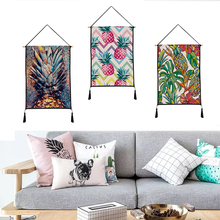 Pineapple pattern tapestry Hanging picture decorative paintings household textile custom polyester 45cm*65cm