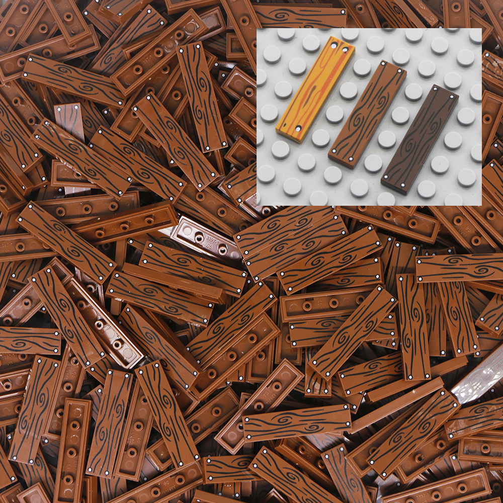 Lot Of 50 New Lego 1x4 Brown Tile
