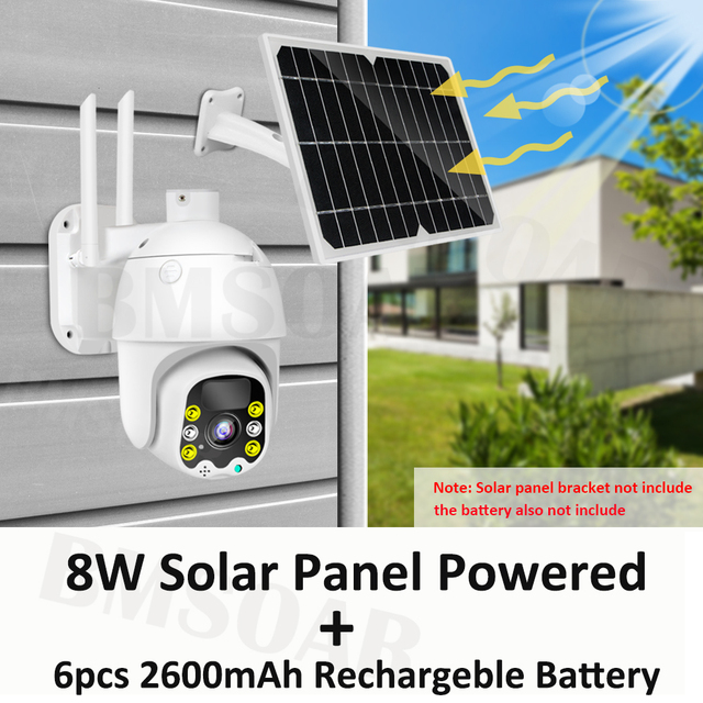 4G 8W Solar IP Camera SIM Card 1080P HD Outdoor WiFi Camera 3G Wireless Speed Dome CCTV Security Camera Battery Long Standby 3