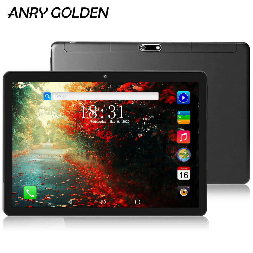 ANRY 3G Phone Call Tablet 10 Inch 1280 X 800 MTK6580 Quad Core Processor 1GB RAM 16GB ROM Android Tablets Dual Sim 10.1 Phablet