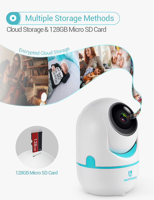 HeimVision HM202A 2K IP Camera Wifi Security Cam 2 Way Audio Motion Detect Night Vision Surveillance PTZ Camera Home/Baby/Pet 4