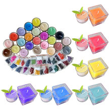 24 Colors 2g Per Color Wax Dye DIY Candle Dye Candle Making Dye Flakes Soy Dye for Candle Molds Kit for Making Scented Candles W