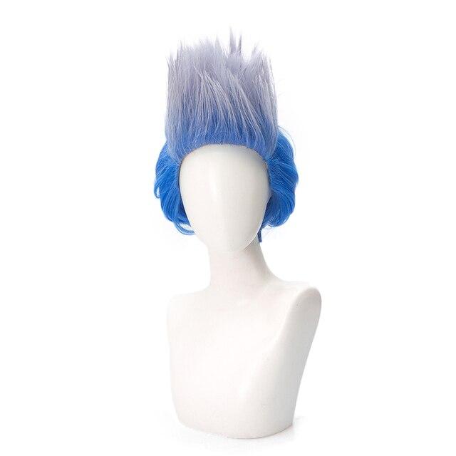 Descendants 3 Hades peluca corta de pelo sintético resistente al calor, disfraz de Cosplay, pelucas para fiesta de Halloween, juego de rol