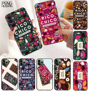 Sweet chocolate Rico Chico Black TPU Soft Phone Case Cover for iPhone 11 pro XS MAX 8 7 6 6S Plus X 5S SE 2020 XR case image
