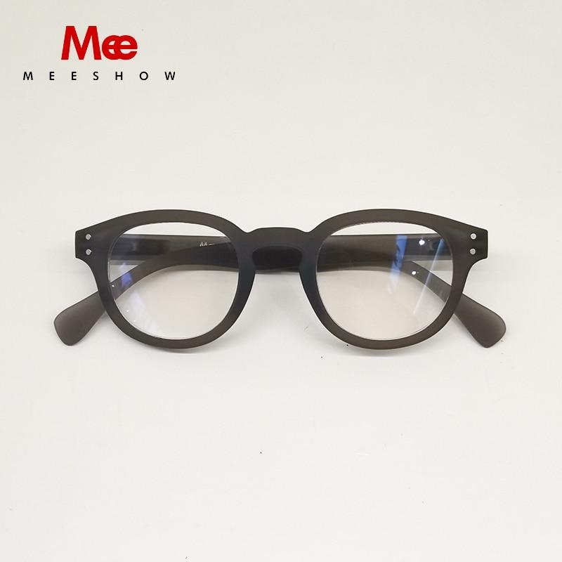 Meeshow Reading Glasses Anti Blue Ray Man Retro Eyeglasses Leesbril With Diopter анти синий луч Lesebrillen Computer Lens GRAY