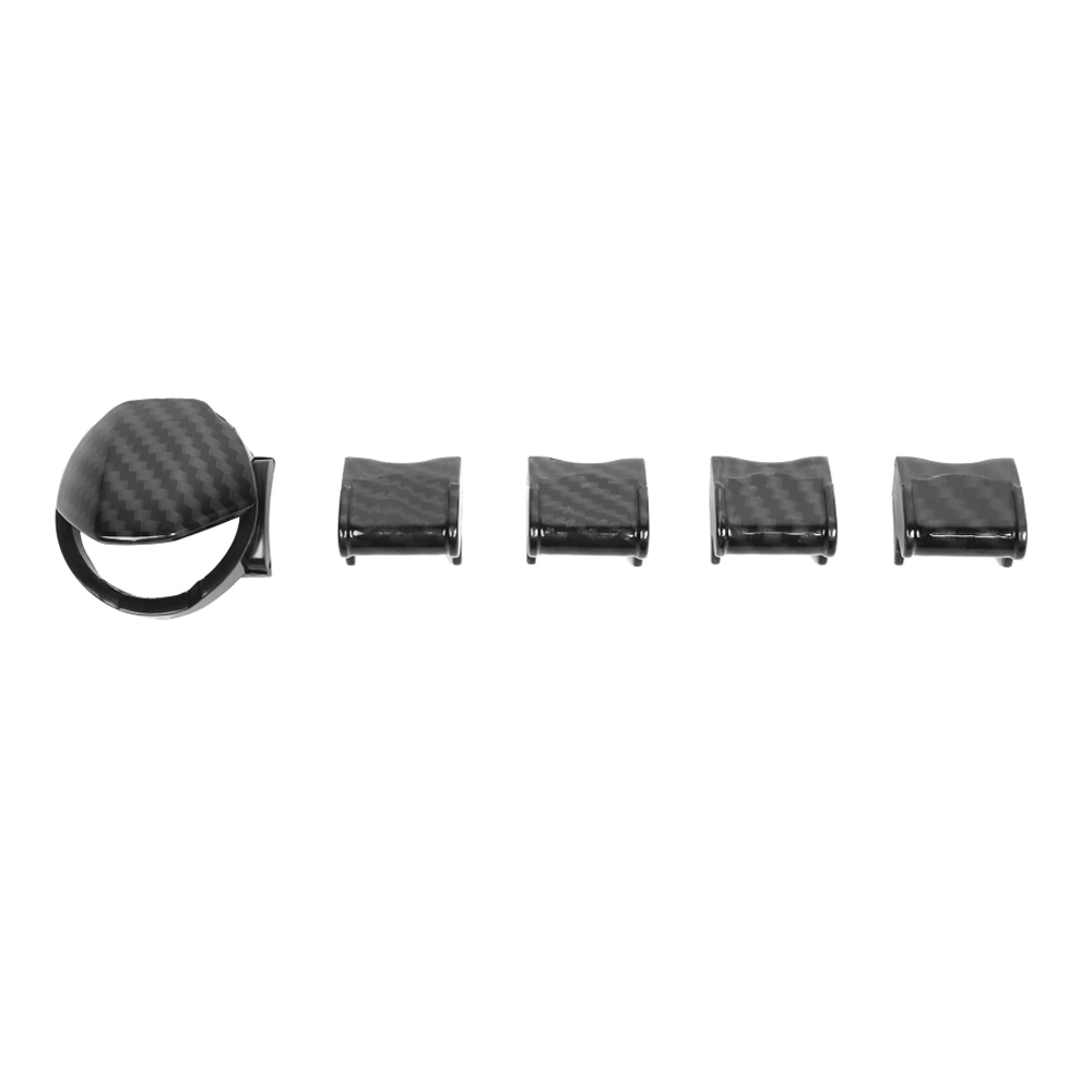 5Pcs/set Car Engine Start Stop Cover And Navigation GPS Button Switch Knob Cap Trim Styling For Ford Mustang 2015+