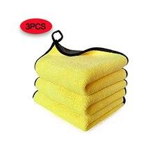 30x60CM, lot de 3 serviettes de lavage de voiture en microfibre, soins de polissage, chiffon de nettoyage à la cire, serviette de beauté de voiture super absorbante et durable