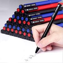 Ручка шариковая 07 мм черная/синяя/красная 6 шт/лот