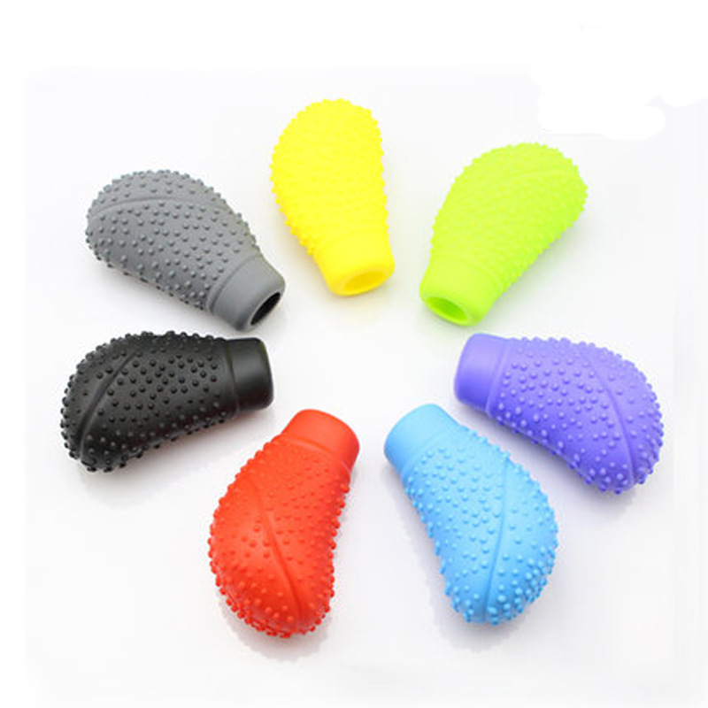 Car Silica Gel Gear Cover Car Gear Cover Manual Automatic Gear Lever Knob Universal Shift Knob Cover Dust Cover