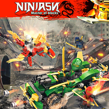 цена на 6 In 1 Phantom Ninja Ninjagoes Series Model Building Blocks Street Race Car Fighter Ninjagoing Bricks Toys For Children Boy Gift
