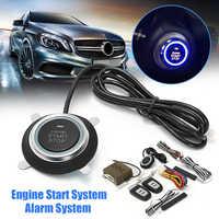 Audew 9pcs Car Engine Start Stop SUV Keyless Entry Engine Start Alarm System Push Button Remote Starter Stop Auto