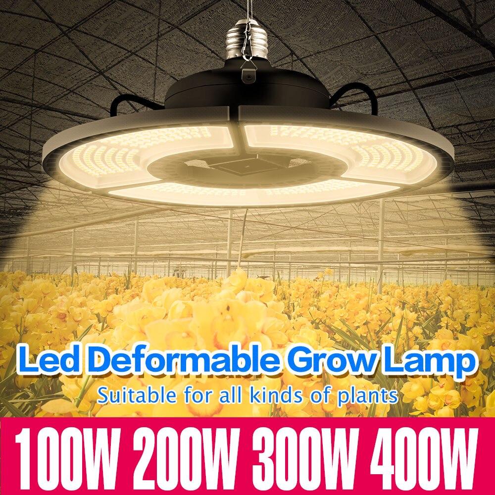 E27 Grow Light 110V LED Full Spectrum 100W 200W 300W 400W LED Plant Lamp E26 Flower Seed Hydroponic Light 220V Growing LED Bulb
