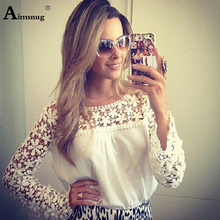 Plus size 4xl 5xl Lace Chiffon Women New Summer White Solid Tops Long Sleeve O-Neck Female T-Shirt Casual Loose Ladies Tee Shirt plus size s 3xl elegant lace stitching solid purple white tops long flare sleeve female t shirt new summer casual women t shirt