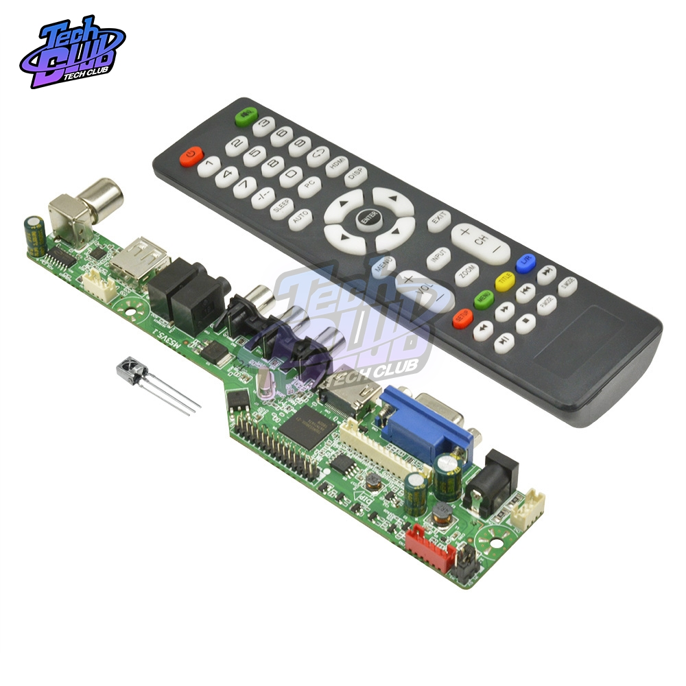 New Upgraded Digital Signal <font><b>LCD</b></font> <font><b>TV</b></font> Controller Driver <font><b>Board</b></font> <font><b>VGA</b></font>/<font><b>HDMI</b></font>/<font><b>AV</b></font>/<font><b>TV</b></font>/<font><b>USB</b></font> Interface Driver <font><b>Board</b></font> with English Remote control image
