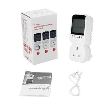 Multi-function LCD Display Thermostat Timer Switch Socket with Sensor Probe Digital Clock Adjustable 12/24 Hour Energy-saving цена 2017