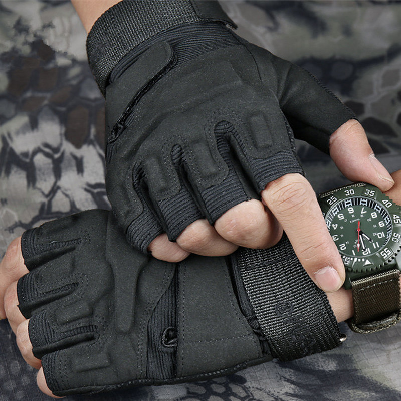 SWAT Fingerless Gloves Army Light Gloves Men US Military Soldier Combat Tactical Gloves Anti-Skid Breathable Fight Shoot Gloves