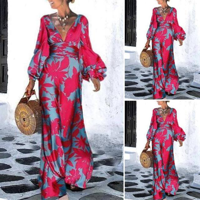 amazing maxi dress with long lantern sleeves, elegant yet comfortable  3