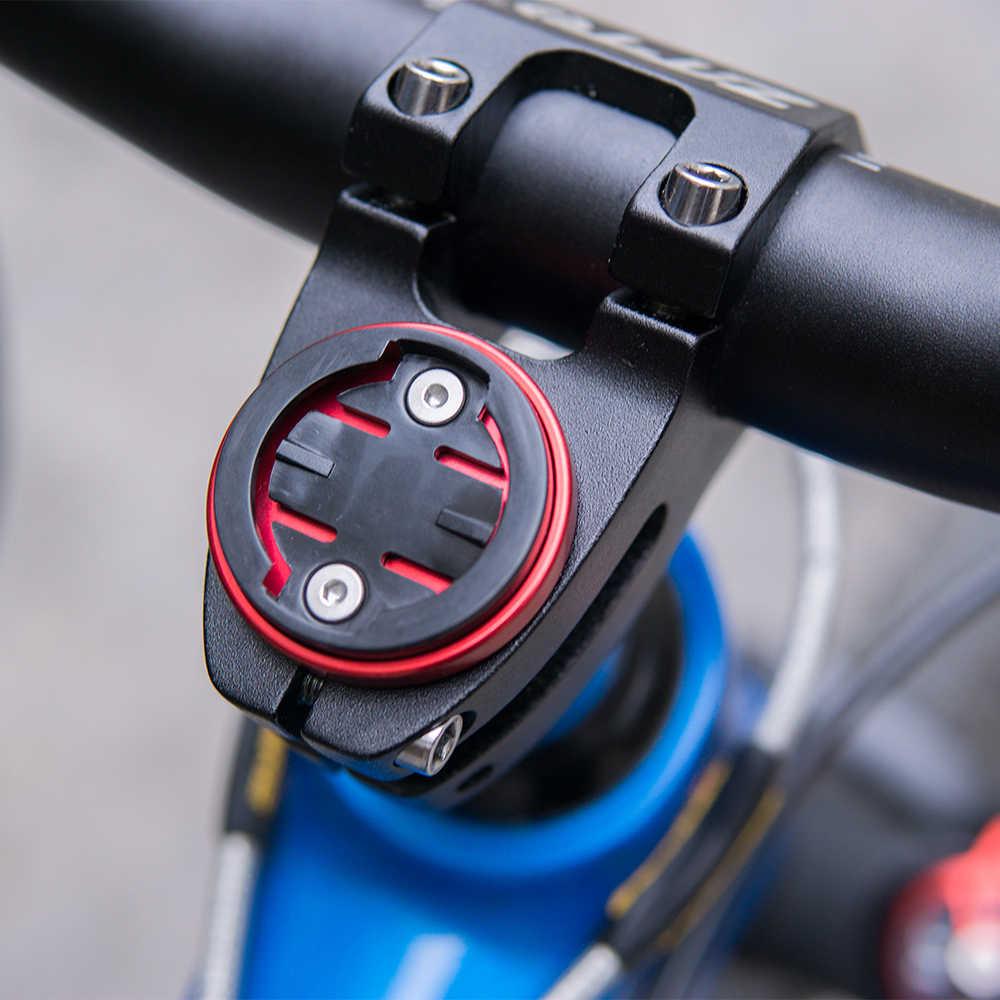 Mtbロードバイクトップキャップ自転車ストップウォッチgpsガーミンのため超軽量マウントbrytonキャットアイ