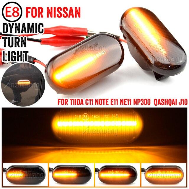 LED Dynamic Side Marker Turn Signal Light For Nissan 350Z Z33 Frontier D40 Cube Z11 Latio C11 Xterra Versa March Pathfinder R51