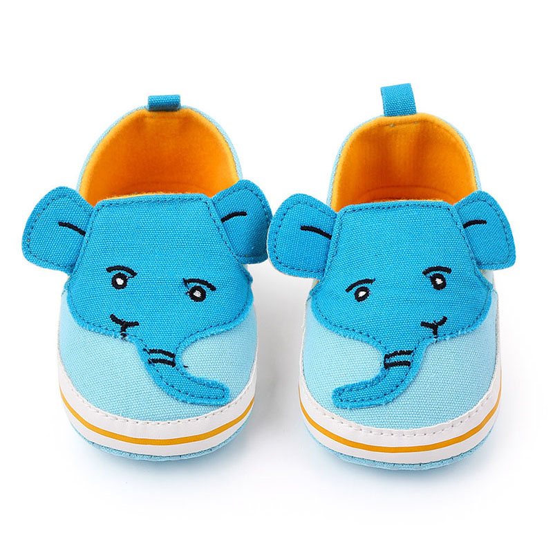 Cartoon Elephant Baby Casual Shoes Cute Canvas Baby Boy Girl Shoes For Newborn First Walker Shoes Baby Schoenen