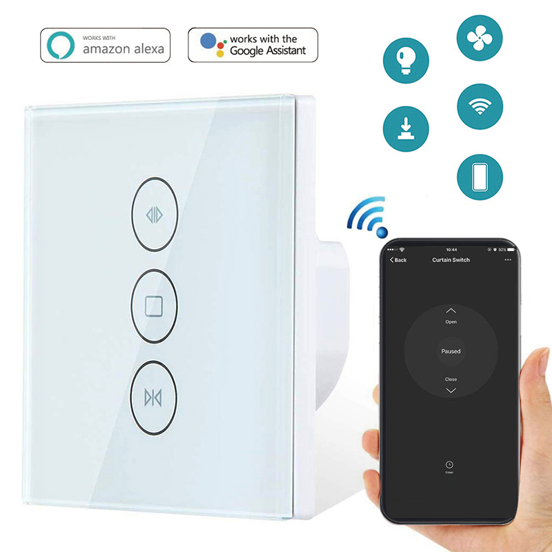 EU US WiFi Smart Curtain Switch Smart Life Tuya For Electric Motorized Curtain Blind Roller Shutter Works With Alexa Google Home