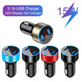 3.1A LED Display USB Phone Charger Car-Charger for Samsung A12 A02 A32 A52 A72 iPhone 12 11 Pro 7 8 Plus Mobile Phone Adapter