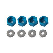 цены 2019 Ca4365 4Pcs Wheel Rim Hex 12Mm Turn 17Mm Adapter For Hsp 1/10 Rc Car Buggy Monster Bigfoot Truck Can Use 1/8 Tires