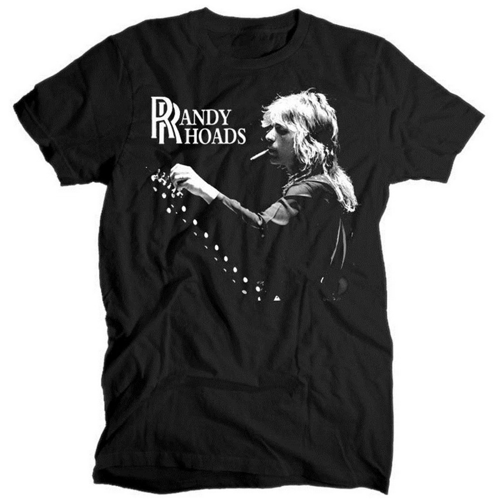 <font><b>Randy</b></font> <font><b>Rhoads</b></font> V2 Memorial BLACK T SHIRT Cotton All Sizes S-5XL High Quality Tee Tshirt image